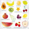 Frische helle saftige Früchte eingestellt. Sammlung für Ihr
