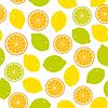 Nahtloses Muster mit Zitrone, Limette, Orange