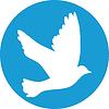 Fliegende Taube für den Frieden Konzeption und Hochzeit Design. | Stock Vektrografik