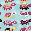 Schildkröte Nahtlose Muster mit lustigen niedlichen Tier auf