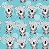 Koala Nahtlose Muster mit lustigen niedlichen Tier auf