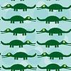 Lustige grüne Krokodil Nahtlose Muster mit niedlichen