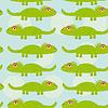 Lustige grüne Leguan Nahtlose Muster mit niedlichen anima