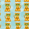 Nahtloses Muster mit lustigen netten Jaguar Tier