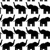 Fröhlich nahtloses Muster mit Elefanten. schwarz