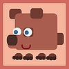 Brown bear cartoon icon