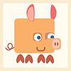Cerdo estilizada icono símbolo | Ilustración vectorial