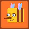 Bee icono estilizada de dibujos animados | Ilustración vectorial