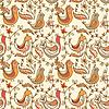 Nahtlose Textur mit Blumen und Vögeln