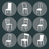 Chair icon set. Symbol Möbel