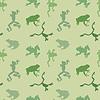 Nahtlose Muster von grünen Frosch