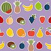 Fruit seamless pattern. Früchte und Beeren