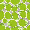 Limes-Muster. Nahtlose Textur mit reife Limetten