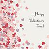 Postkarten-Vertikale mit Herzen zum Valentinstag