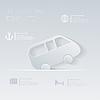 Reisen mit dem Auto. Ihr Themen-Urlaub. Template Infografik