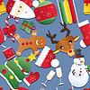 Neujahr nahtlose Muster. Endless Weihnachten