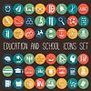 Ausbildung Schulausbildung Wohnung Icon Set