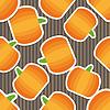 Kürbis-Muster. Nahtlose Textur mit reifen Kürbisse