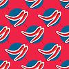 Paprika-Muster. Nahtlose Textur mit reifen roten
