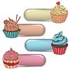 Preisschild Label mit kleinen Kuchen. Schreiben Sie Text auf