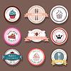 Setzen von Back logo Etiketten und Abzeichen