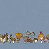 Nahtlose Grenze von verschiedenen Pilzen