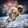 宇航员在外太空 | 免版税照片