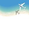 Meer Hintergrund mit Flugzeug | Stock Vektrografik