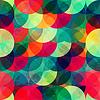 bunten Kreis nahtlose Muster mit Grunge-Effekt