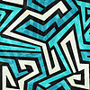 blaue Labyrinth nahtlose Textur mit Grunge-Effekt