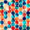 farbige Kreise nahtlose Muster mit Grunge und