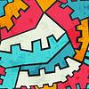 farbige Getriebe nahtlose Muster mit Grunge-Effekt