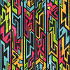 farbigen Tribal Graffiti nahtlose Muster