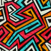 Graffiti Stammes nahtlose Textur mit Grunge-Effekt