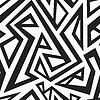 monochrome afrikanischen nahtlose Textur