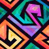 Musik geometrische nahtlose Muster mit Grunge-Effekt