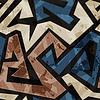 städtische Graffiti nahtlose Textur mit Grunge-Effekt