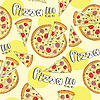 Doodle Pizza nahtlose Hintergrund