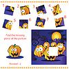 Finden fehlenden Stück - Puzzle-Spiel für Kinder