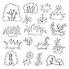 Gras und Blumen Cartoon Malbuch für Kinder