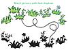 Gras und Blumen Cartoon - Spiel für Kinder