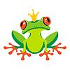 Cartoon frog with crown | Stock Vector Graphics