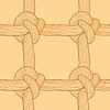 Seil und Knoten nahtlose Muster