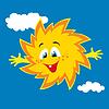 Векторный клипарт: Счастливый мультяшный ВС улыбается