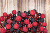 Assorted Berry on wooden table | Stock Foto