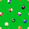 Векторный клипарт: Набор цветных бильярд шары, бесшовный узор