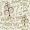 Векторный клипарт: Arbor Day бесшовные цветочный узор