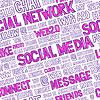 Social Media Wörter Seamless Pattern