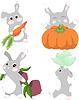 Векторный клипарт: Кролик фермер