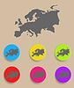 Europa Karte - Symbol